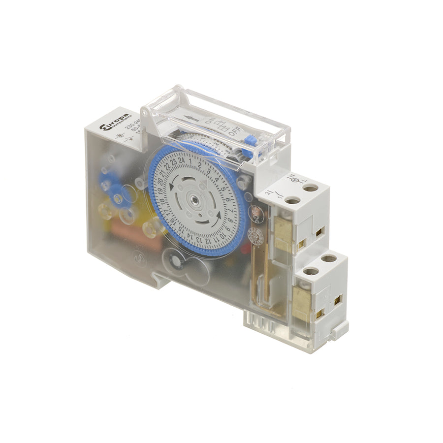 16A (AC-1) 230V AC 24 Hour (Din Rail or Surface Mount) Analogue