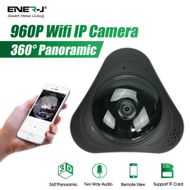 HD 360° Panoramic Fisheye IP Camera Wifi Security Surveillance Monitor VR 3D Cam