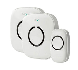 Twin Wireless Plug-in & Battery Doorbell – 1 Transmitter + 2 Receiver