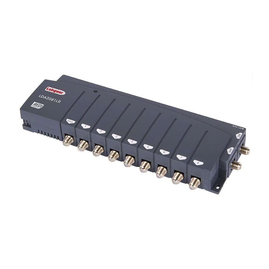 2-Input 8 + FULL Output Distribution Amplifier 4G Filter on UHF, RED Compliant