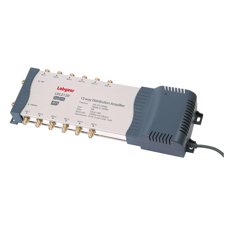 2-in, 12-out mains powered DigiLink amp