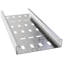 Cable Tray Galvanised Light Duty 225mm x 12.5mm x 3m
