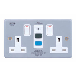 RCD Protected 2 Gang DP Switched Socket (passive/latching) 13 Amp RCD Socket Outlets