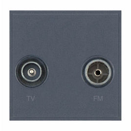 2 x Coaxial/Aerial (Male & Female) Isolated - with Faraday Cage - Grey