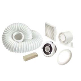 100mm Monsoon Shower Fan Kit c/w LED Light - Standard