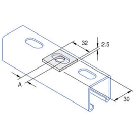 Support Systems - Flat Fittings P1063/08