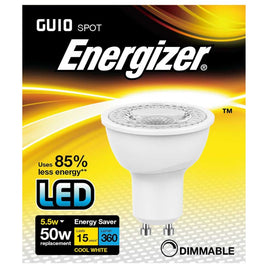 Energizer S8827 LED GU10 5.5W 360Lm 4000K Light Bulb