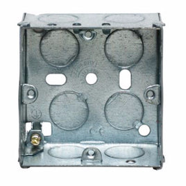 1 Gang 35mm Recessed Metal Back Box