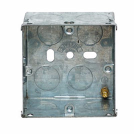 1 Gang 47mm Recessed Metal Back Box