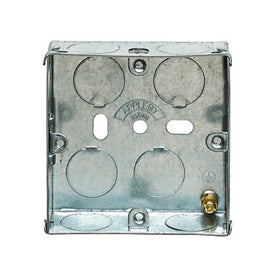 1 Gang 25mm Recessed Metal Back Box