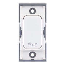 "20A DP switch engraved ""dryer"""