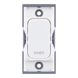 "20A DP switch engraved ""oven"""