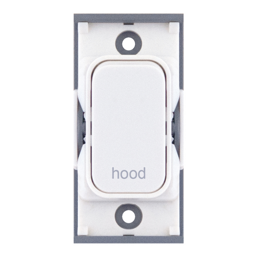 "20A DP switch engraved ""hood"""