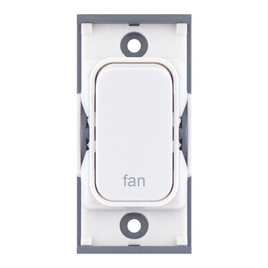 "20A DP switch engraved ""fan"""