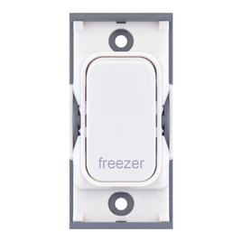 "20A DP switch engraved ""freezer"""