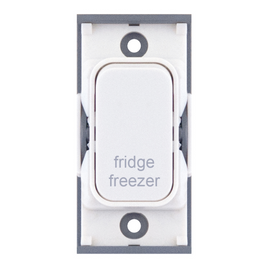 "20A DP switch engraved ""fridge freezer"""
