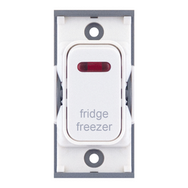 "20A DP switch with neon, engraved ""fridge freezer"""