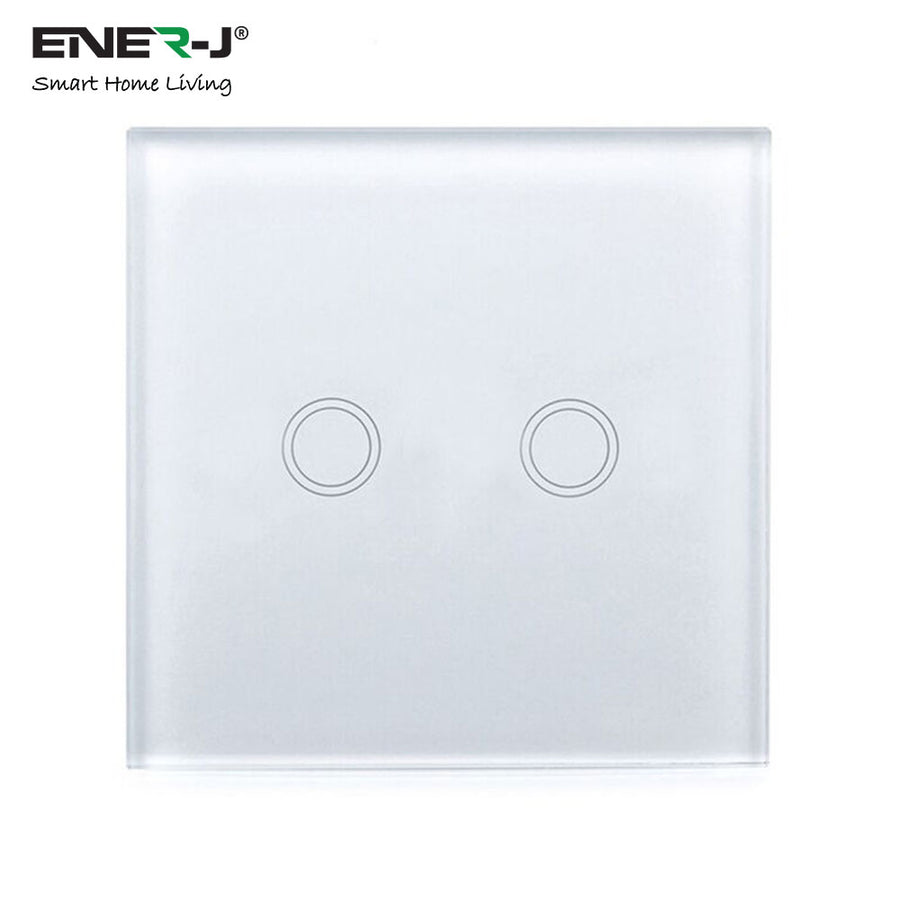 WIFI Smart 2 Gang Touch Glass Switch
