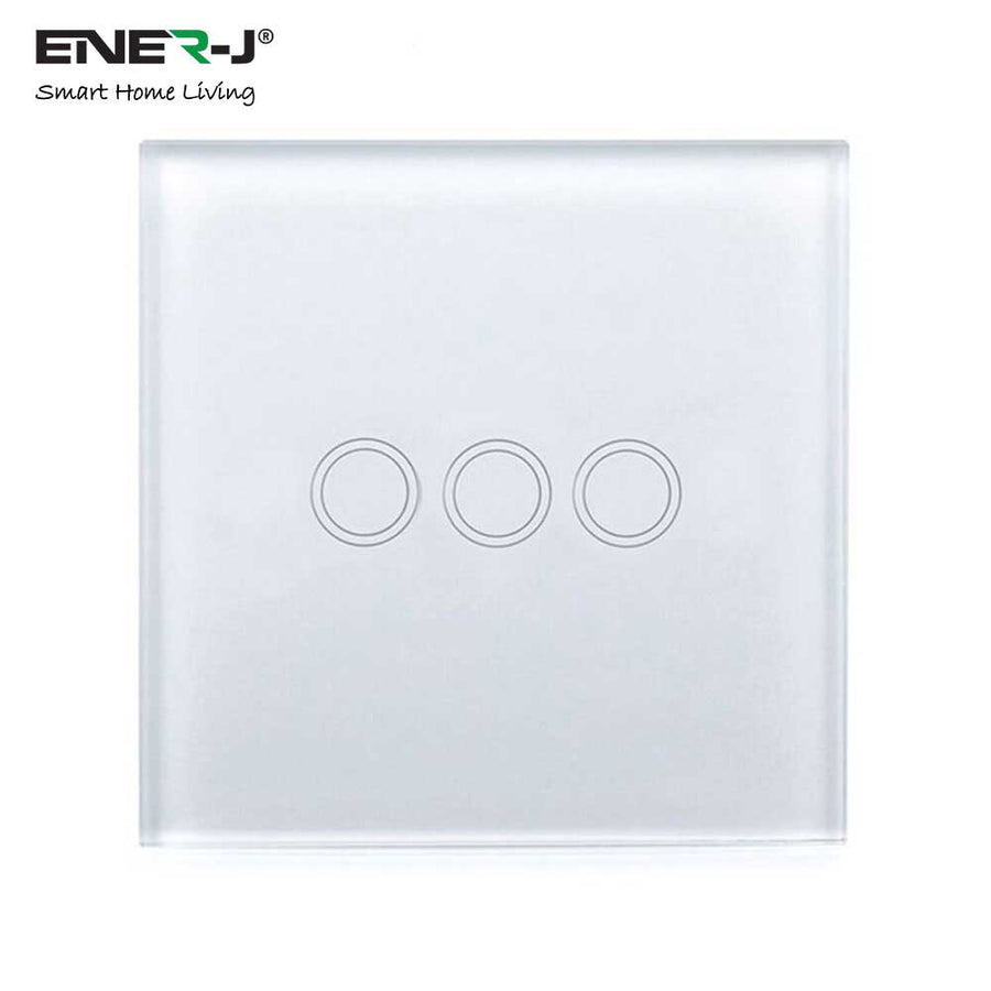 WIFI Smart 3 Gang Touch Glass Switch