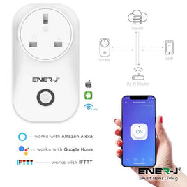 WiFi Smart Plug, Smart Wirings With Energy Monitor, 16A UK Plug