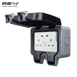 Waterproof 13A WiFi Twin Wall Sockets With 2 USB Ports