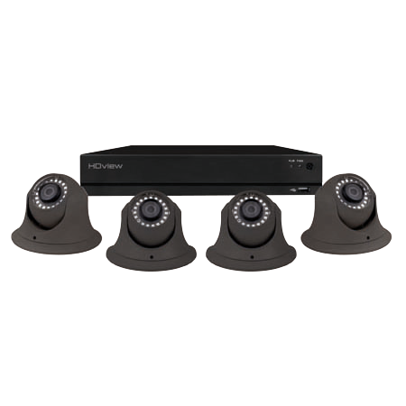 4 Channel Full HD 500GB CCTV System Grey