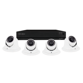 4 Channel Full HD 1TB CCTV System White