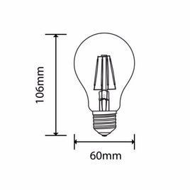 LED Bulbs 6W A60 Filament Dimmable