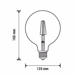 LED Bulbs 6.5W G45,G125 Filament