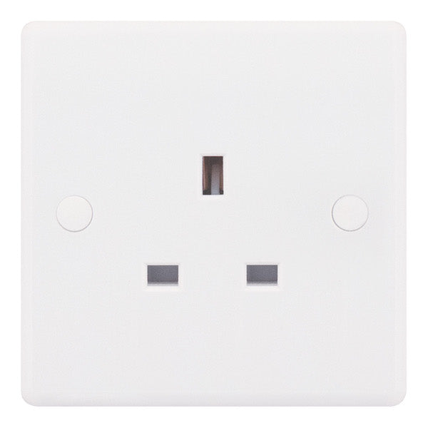 1 Gang Unswitched 13 Amp Socket Outlet Smooth