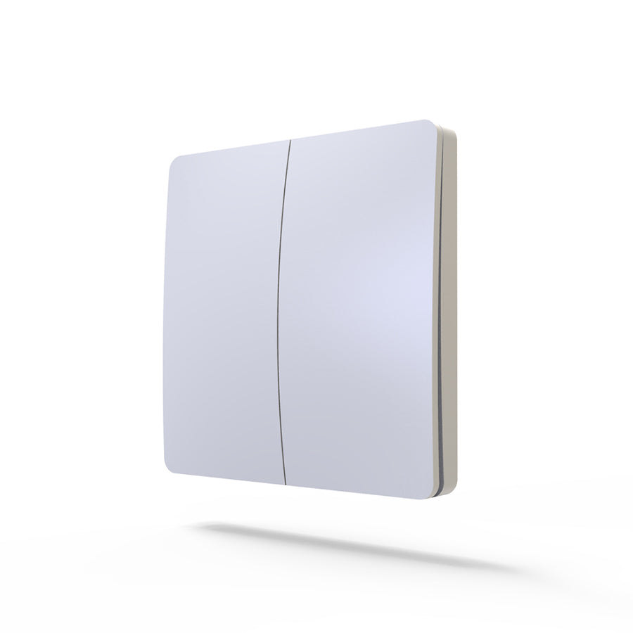 2 Way 2 Gang Wireless Dimmable Light Touch Switch / Wall Switches For Smart Home