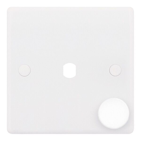1 Aperture - Empty Dimmer Plates with Knob
