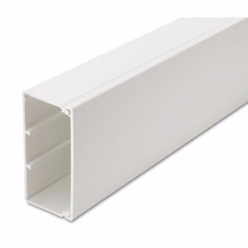 50mm x 100mm PVC Maxi Trunking - 6 Metre length