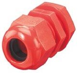 Dome top gland 20mm red