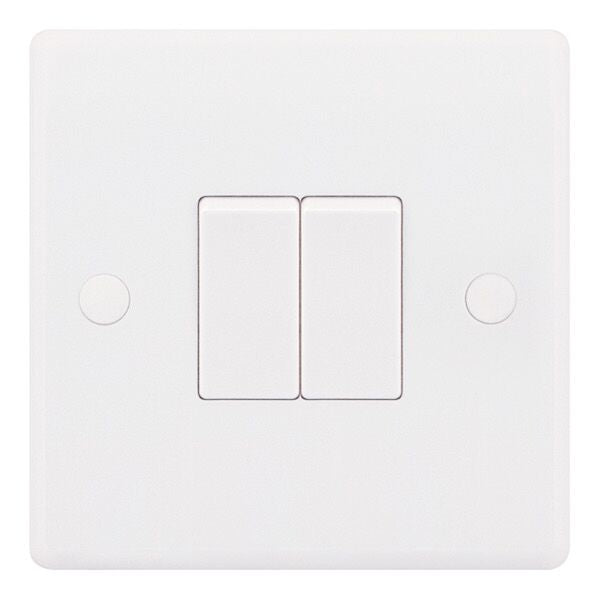 2 Gang 2 Way - X-Rated 10 Amp Plate Switch Smooth
