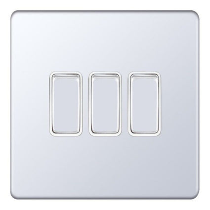 3 Gang 2 Way X-Rated 5M-Plus Plate Switches