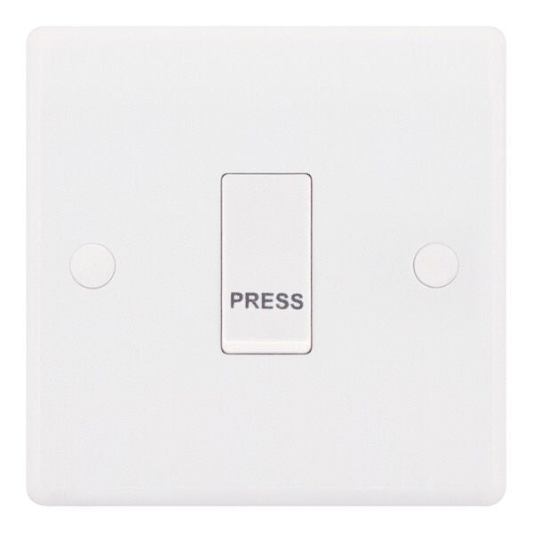 "1 Gang Push Switch ""PRESS"" - X-Rated Smooth 10 Amp Switch"