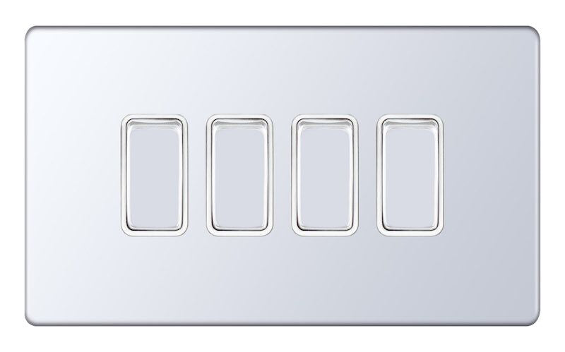 4 Gang 2 Way X-Rated 5M-Plus Plate Switches