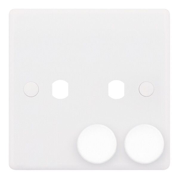 2 Aperture - Empty Dimmer Plates with Knobs