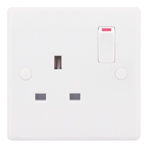 1 Gang Switched DP 13 Amp Socket Outlet Smooth