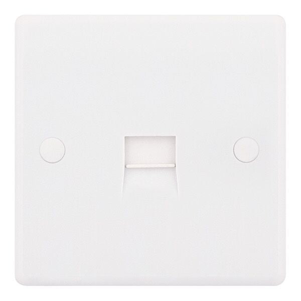 1 Gang Secondary Telephone Socket White