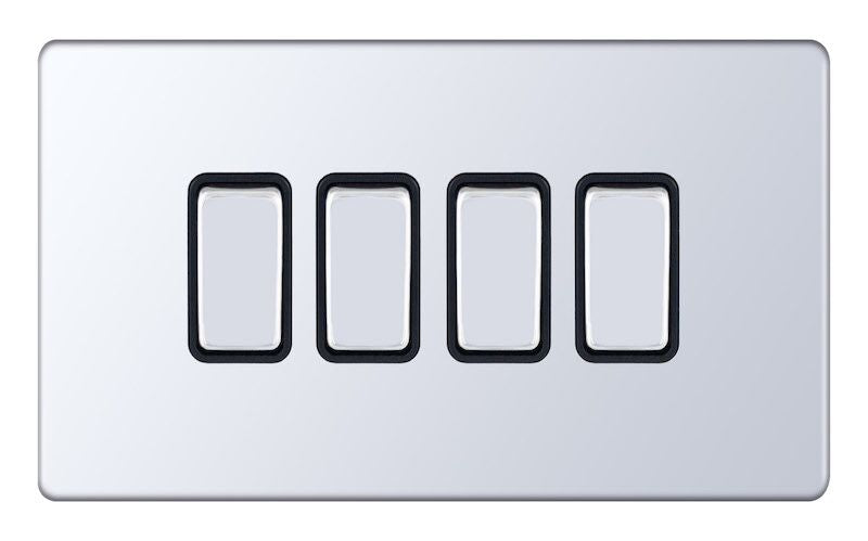 6 Gang 2 Way X-Rated 5M-Plus Plate Switches