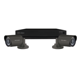 CCTV, Kit 4 Channel c/w 2x Bullet Cameras, Super HD 500GB, Grey