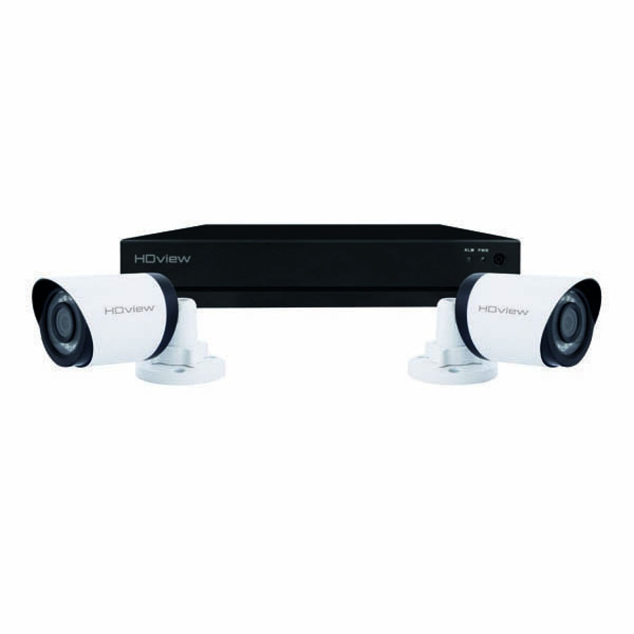 CCTV, Kit 4 Channel c/w 2x Bullet Cameras, Super HD 2TB, White