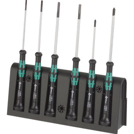 Wera 2035/6A Kraftform Micro Slot/Phillips Screwdrivers, 6-Piece Set 05118150001