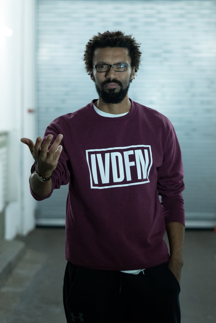 IVDFN BOX SWEATER (burgunder/rot)