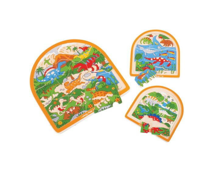 Big Jigs Dinosaur Arched Layered  Puzzle
