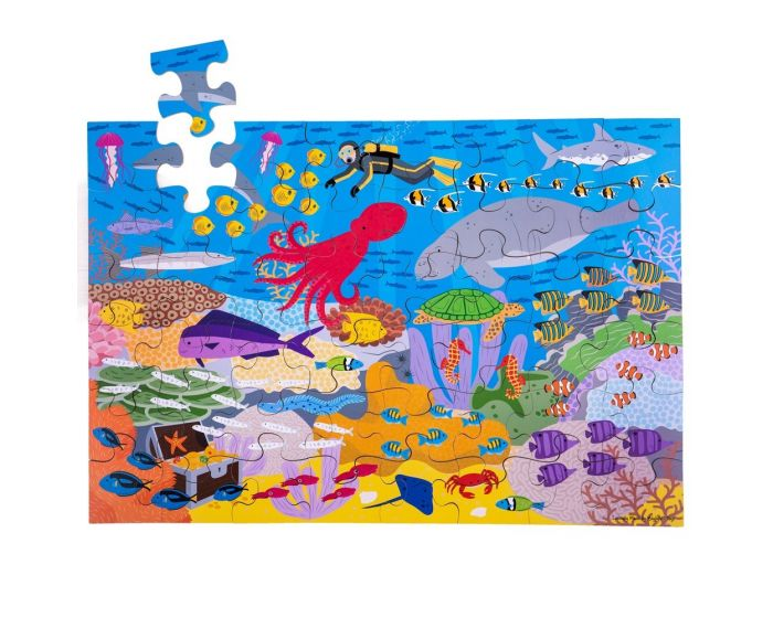 Big Jigs Under The Sea Floor Puzzle 48 piece