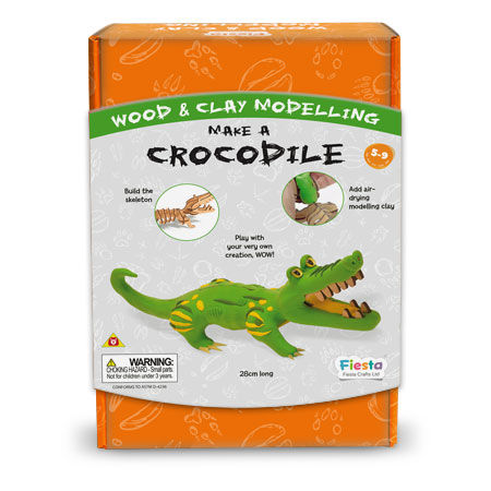 Fiesta Craft Make a Crocodile Wood and Clay