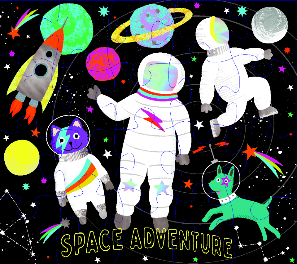 Floss and Rock Space Adventure Jigsaw